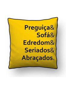 ALMOFADA---PREGUICA-E-SOFA-E-EDREDOM-E-SERIADOS-E-ABRACADOS-QUADRADO-FUNDO-AMARELO-OURO
