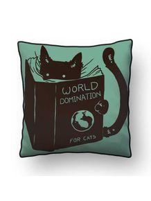 ALMOFADA---WORLD-DOMINATION-FOR-CATS--GREEN-