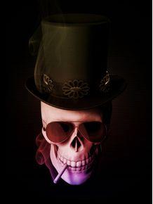 top-hat-skull