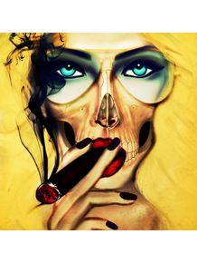 sexy-skull-girl-cigar