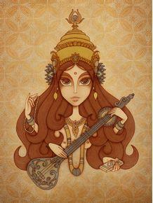 deusa-saraswati