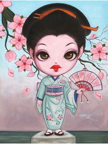 geisha-with-sakura