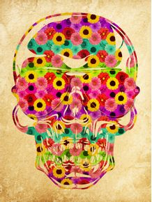 skull-color-flowers