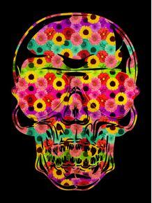 skull-color-black-flowers