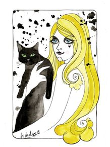 blonde-with-cat