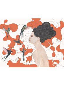 passaros-para-cabelos-enrolados-laranja
