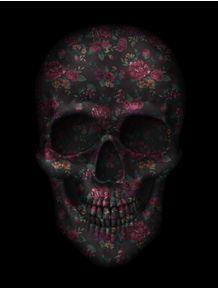 skull-black-flowers