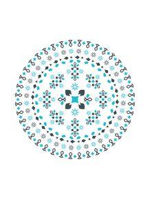 mandala--azul
