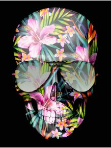 hawaii-skull-flowers
