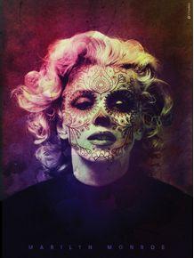 marilyn-monroe-mexican-skull