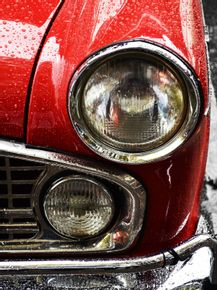 vintage-and-red-car