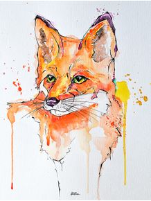 fox-aquarela