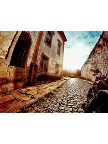 old-city-street-sunset