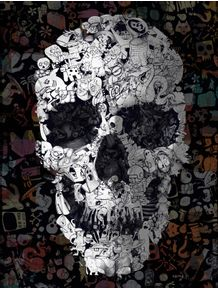 doodle-skull