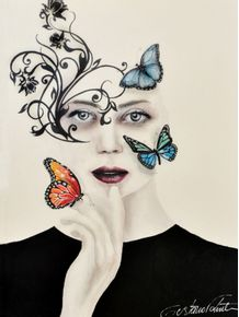 mulher-borboletas-coloridas