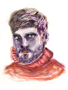 watercolor-male-model-homem-aquarela