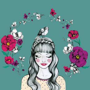 menina-e-passarinhos