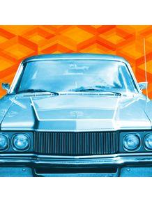 carro-azul--retro