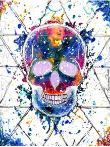 acrylic-skull