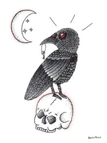 moon-crow