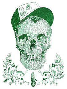 skull-green
