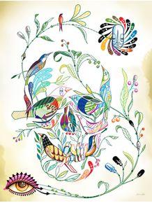 quadro-skull-passaros