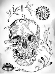 quadro-skull-passaros-pb