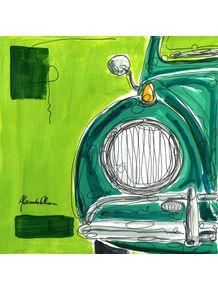 quadro-fusquito-verde