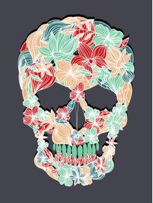 quadro-paper-flower-skull