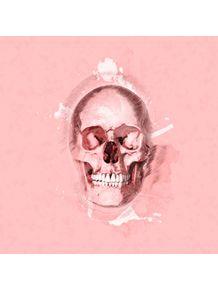 quadro-caveira-em-fundo-rosa