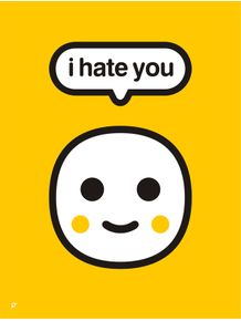 quadro-i-hate-you-yellow