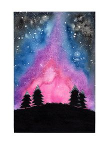 quadro-aurora-borealis-aquarela