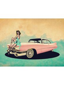 quadro-pin-up-car