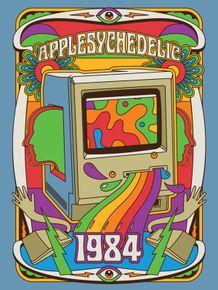 quadro-applesychedelic-retro