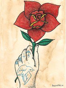 quadro-old-school-flower
