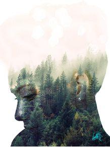 quadro-forest-girl