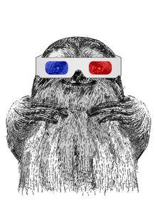 quadro-3d-sloth