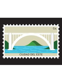 quadro-estampilla-de-ciudad-del-este