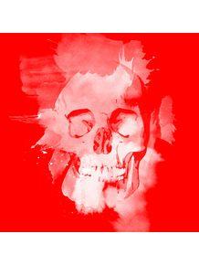 quadro-caveira-neon--vermelho
