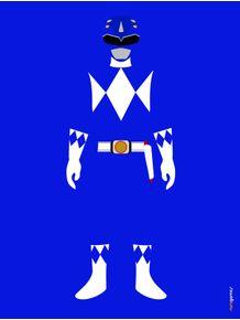 quadro-power-ranger-azul