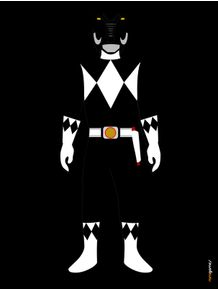 quadro-power-ranger-preto