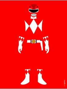 quadro-power-ranger-vermelho