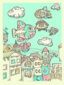 quadro-doodle-village