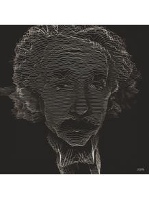 quadro-einstein-black-and-lines