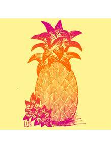 quadro-abacaxi-no-por-do-sol