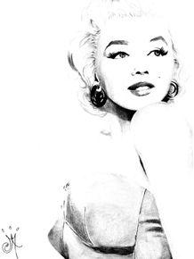 quadro-sketch-a-la-marilyn