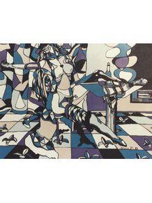 quadro-mulher-em-azul