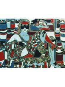 quadro-mulher-em-vermelho-e-preto
