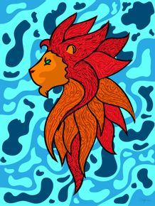 quadro-leao-bicolor