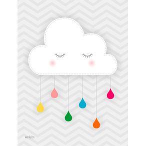 quadro-nuvem-com-gotas-coloridas